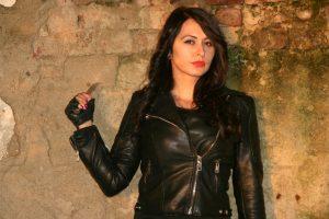 cazadora cuero mujer